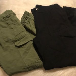 2 pairs of girls Justice cargo pants